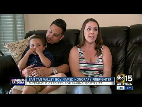 Valley mother praises young son for saving her life