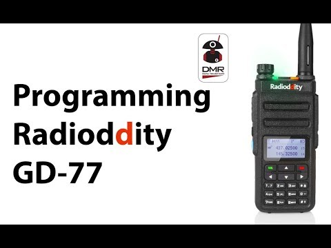 Programming the Radioddity GD-77