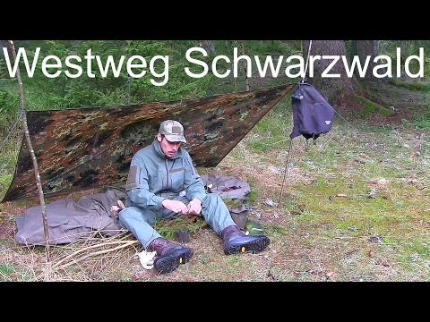 Doku - Westweg Schwarzwald Wandern. Zu Fuß bis Basel - Autark Hütten & Wald Übernachtung. Abenteuer!