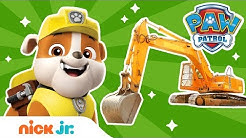 Construction w/ PAW Patrol's Rubble & REAL Trucks! 🚚 | PAW Patrol | Nick Jr.