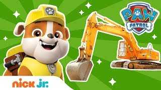 Construction w/ PAW Patrol's Rubble & REAL Trucks! 🚚 | Nick Jr.