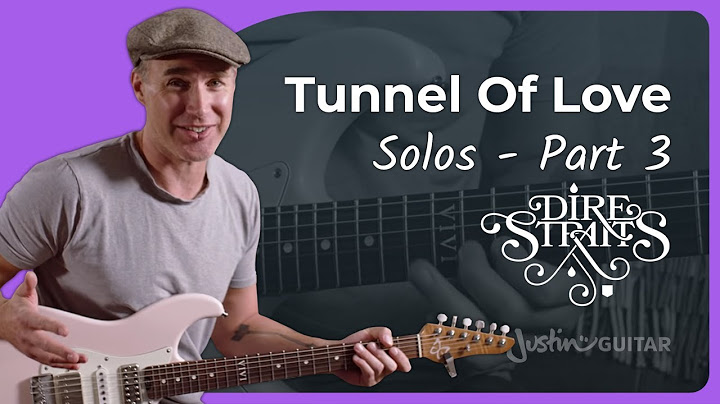 the incredible tunnel of love outro solo by mark knopfler p2 dire straits guitar lesson tutorial