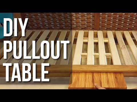 DIY Pullout Table for Daybed