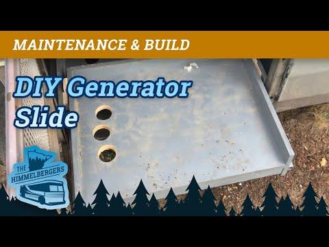 Onan Generator Drawer Slides  Part 4 - MCI 9 Bus RV Conversion