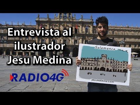 Entrevista al ilustrador Jesu Medina en Radio 4G Medina 📻 Jueves 13 de Julio de 2017