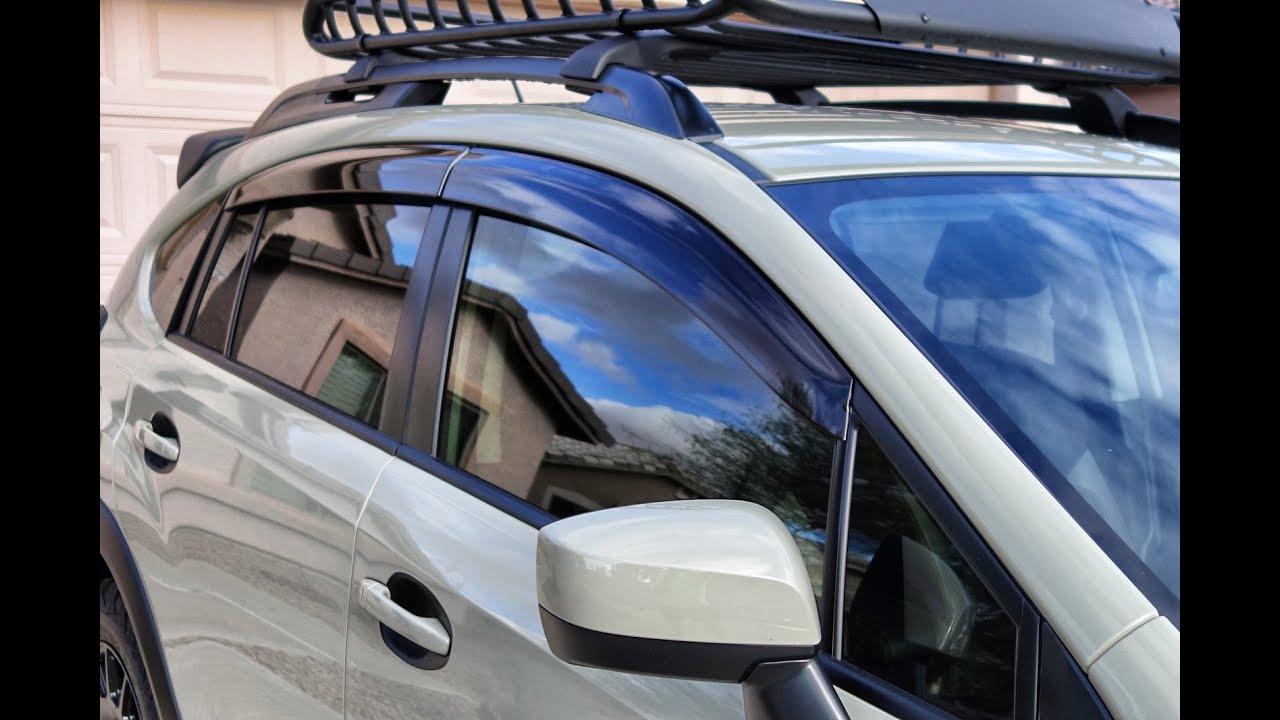 Subaru Crosstrek Oem Side Window Deflectors Intstall Youtube