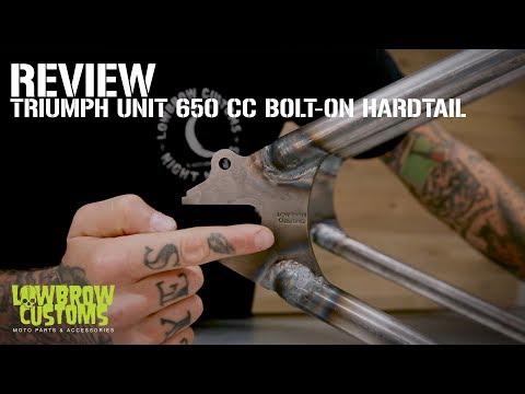 Lowbrow Customs - Triumph Unit 650 cc Bolt-On Hardtail Review