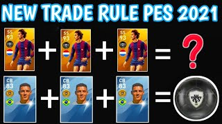 NEW TRADE RULE [ Black ball by trade gold ball ]• PES 2021 MOBILE