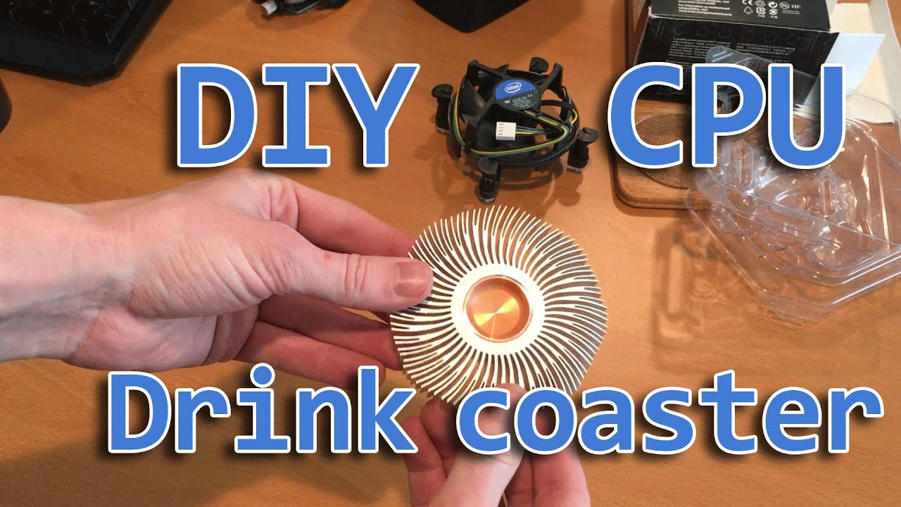 DIY CPU Drink Coaster