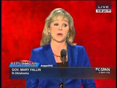 Mary Fallin's Full RNC Speech 8/28/12