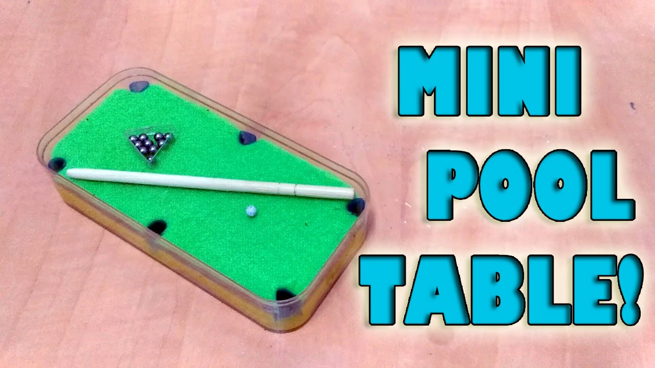 How To Make Mini Pool Table Set DIY YouTube - Mini billiards table set