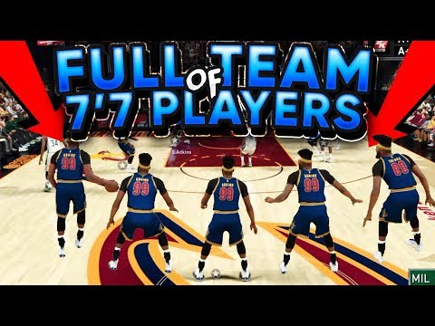 FULL TEAM OF 7'7 PLAYERS!! Most INSANE 2K Game Ever!! - NBA 2K17 | PeterMc