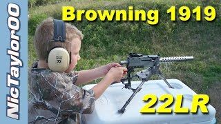 Browning 1919 Beltfed 22LR Machine Gun Overview
