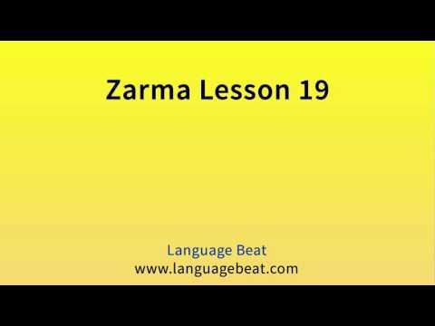 Learn Zarma   :  Lesson 19  -  Zarma  Phrases for Beginners