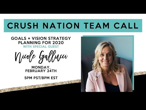 CRUSH NATION team call with Nicole Gallucci, February 24th 2020