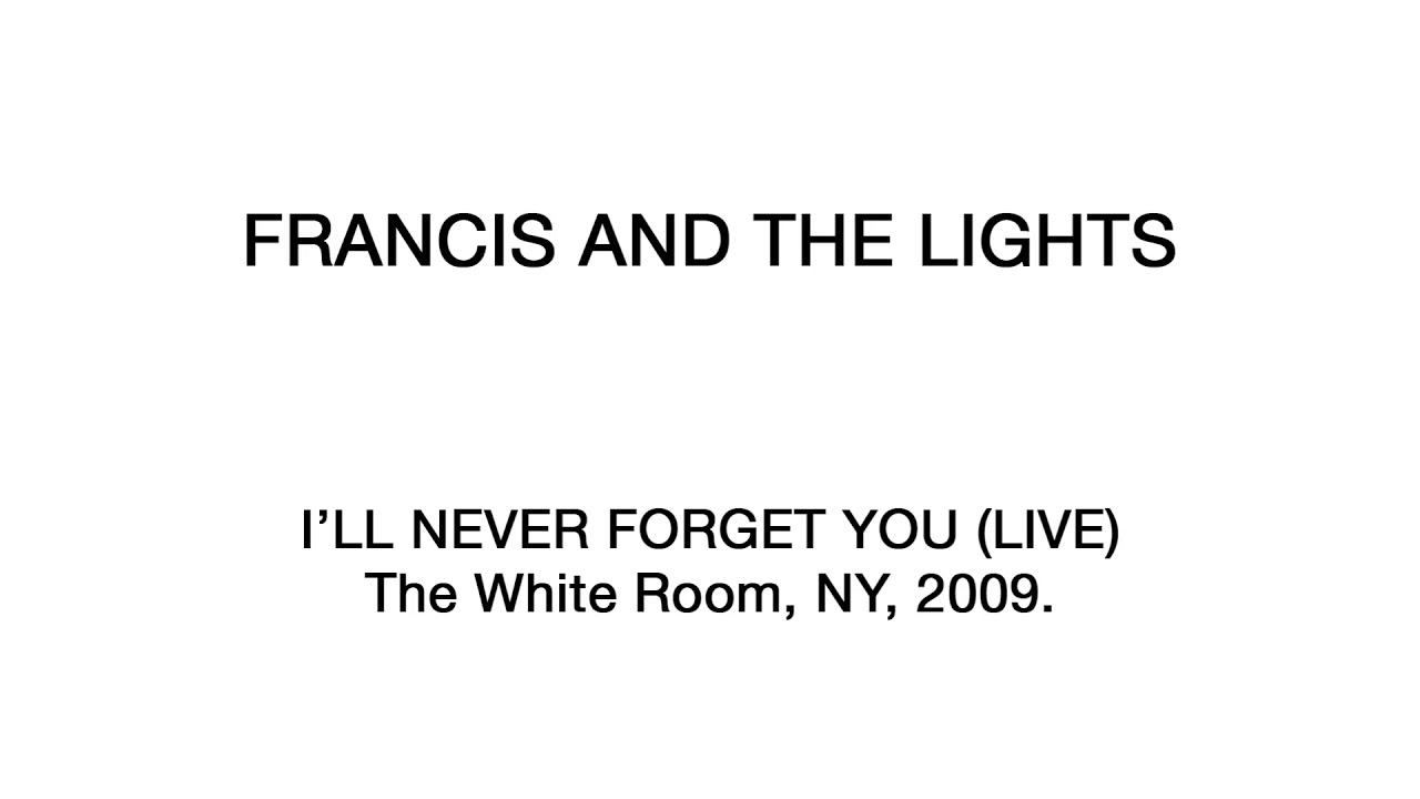 Francis and the Lights - I\'ll Never Forget You (2009 Live At The ...
