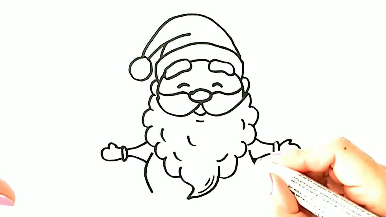 Noel Baba Nasil Cizilir Boyama Yapmak Icin Sevimli Noel Baba