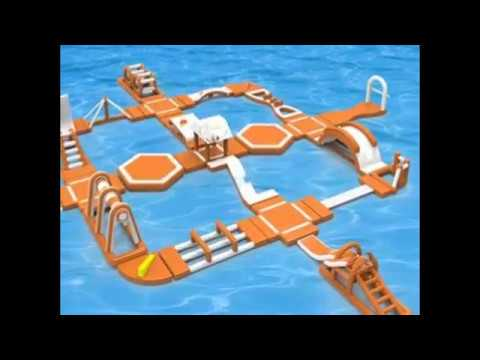inflatable floating water park lake park manufacturer Email : export@lysunny.net