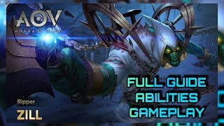 ZILL - BEST ASSASSIN? | COMPLETE GUIDE | ARENA OF VALOR INDIA | WOLF XOTIC