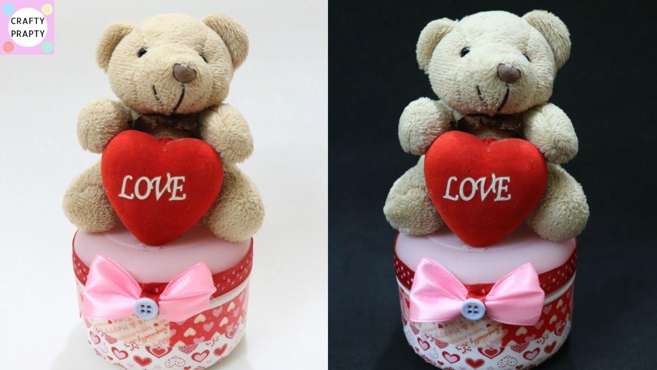 DIY Valentine's Day gift idea / DIY Teddy Bear Organizer box / How to make Teddy bear gift box