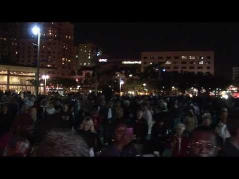 ICTV1 Holiday Tree And Street Lighting Downtown West Palm Beach Flagler Drive Waterfront