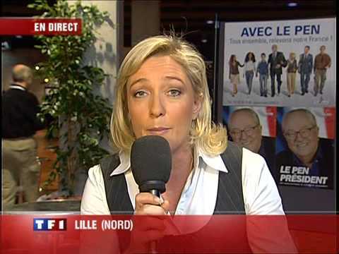 Marine Le Pen invitée du journal de 13h sur TF1 le 24/02/2007