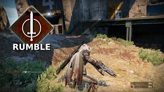 RUMBLE | Twilight Gap (Earth) | Level 14 Hunter - Destiny Multiplayer Gameplay