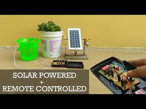 Solar powered + RF Remote operated plant watering Electronic