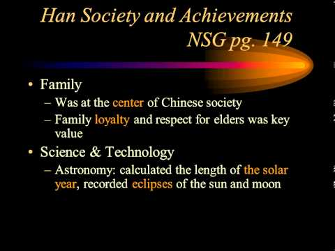 Han Society and Achievements