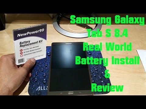 "Samsung Galaxy Tab S ""Real world"" Battery Replacement - Newpower99.com Battery"