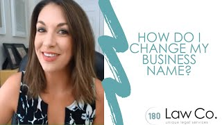 How Do I Change My Business Name? - All Up In Yo' Business