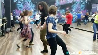 2018-04-15 / Бесплатный открытый урок / Парный чарльстон / Free charleston lesson students dancing