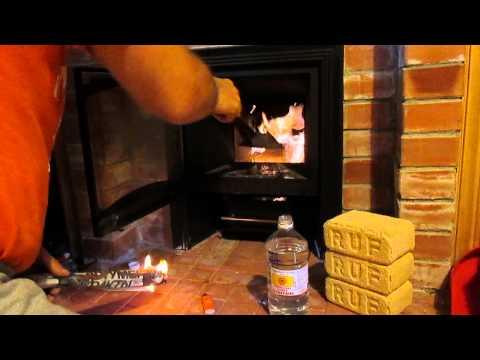 Как разжечь топливные брикеты