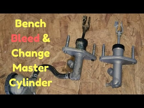 BENCH BLEED clutch master cylinder and REPLACE
