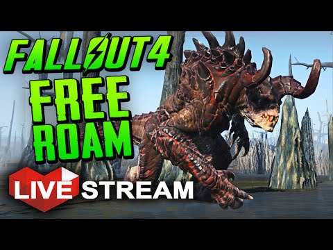 |Fallout 4 Gameplay Exploration| FREE ROAM & DEATHCLAW HUNT Live Stream (No Spoilers)