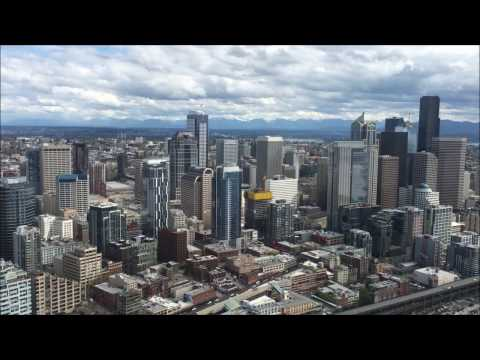 Seattle From a Helicopter: a 16-minute tour from above. (With Tower ATC)