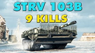 World of Tanks Strv 103B - 9 Kills - 9.6K Damage
