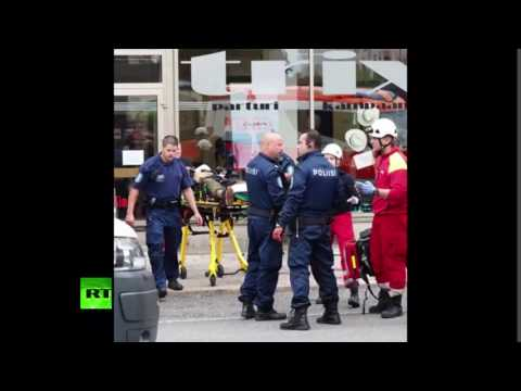 Emergency services at scene of stabbing in Turku, Finland