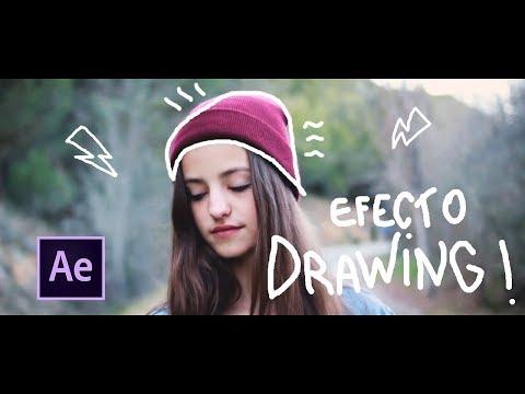 Como hacer efecto DRAWING/ SCRIBBLE(Garabato) - After Effects en Español | VioletaPhoto