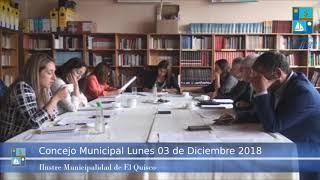 Concejo Municipal Lunes 03 Diciembre 2018 - El Quisco
