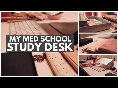 MY STUDY DESK TOUR - Med School Edition (2017)