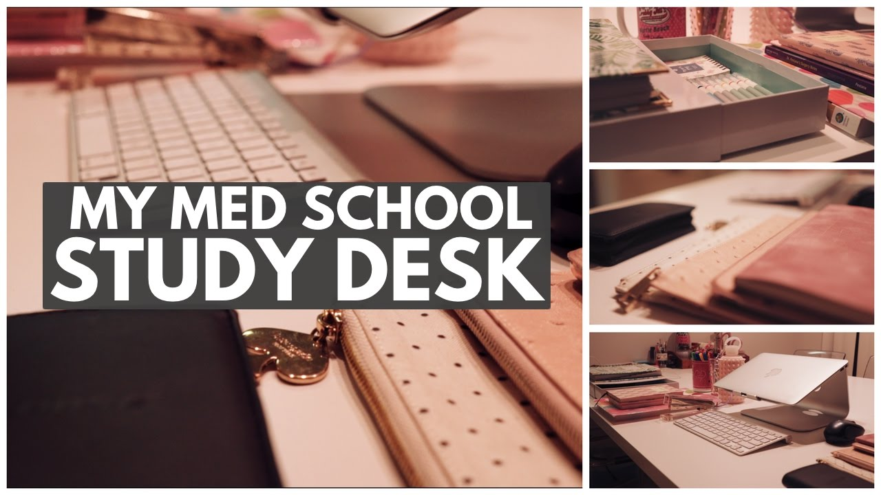 MY STUDY DESK TOUR   Med School Edition (2017)