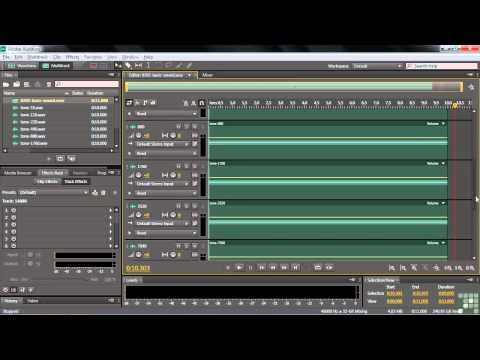Adobe Audition CS6 Tutorial | Basic Sound | InfiniteSkills