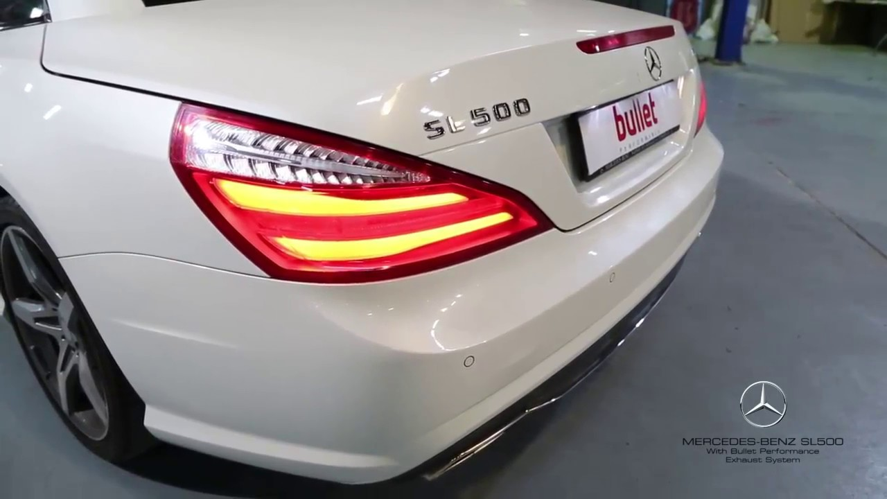 Mercedes Benz Sl500 With Bullet Performance Custom Exhaust System