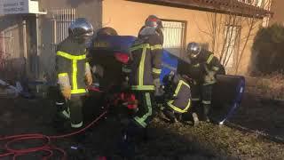 Les nouvelles techniques de désincarcération des pompiers de Monistrol