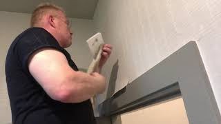 How To Patch Over and Fix a Bad Wallpaper Seam - Spencer Colgan