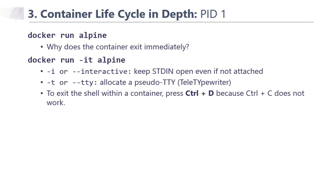 (Docker – Phần 3a) Chu trình sống container – Container Life Cycle in depth
