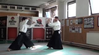 6  jo kata partner practise 3 jo -ken ( staff vs boken) [TUTORIAL] Aikido advanced weapon technique