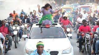 Wema Sepetu alivyopokelewa Dar baada ya kuukosa Ubunge. (video)