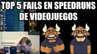 Top 5 Fails en Speedruns de Videojuegos